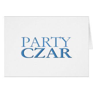 Party Czar Greeting Cards