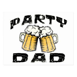 Party Dad Postcard