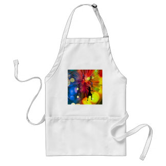 Party, dance and lights in celebration adult apron