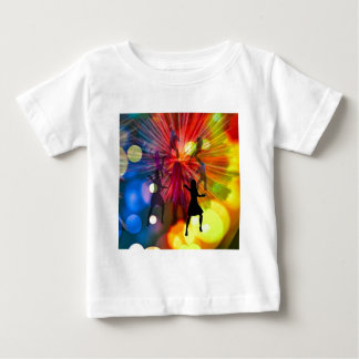 Party, dance and lights in celebration baby T-Shirt
