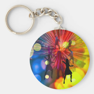 Party, dance and lights in celebration keychain