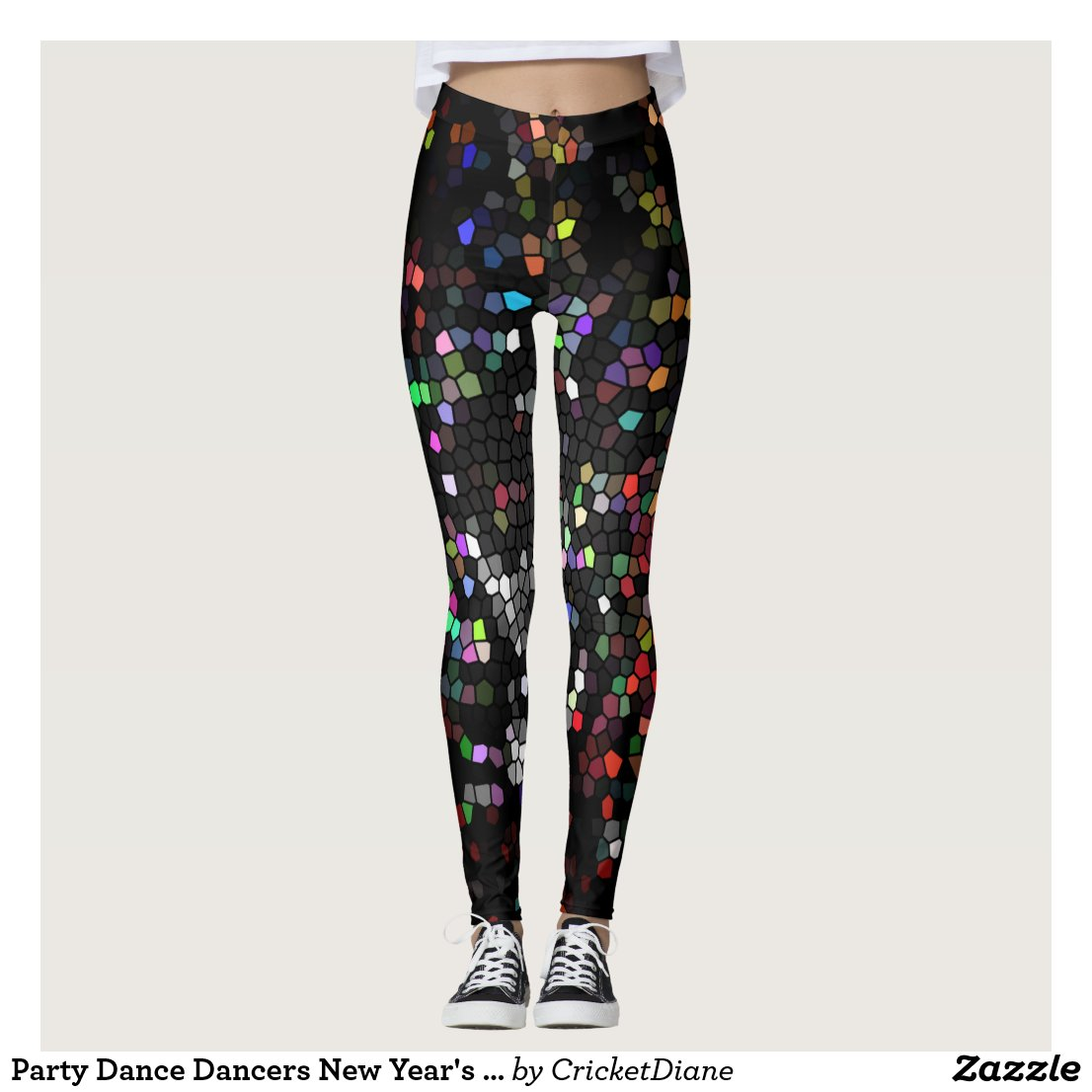 Party Dance Dancers New Year's Fab Trendy Designer Leggings