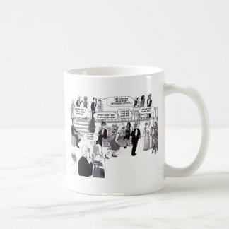 Party, dating, thought bubbles. mug