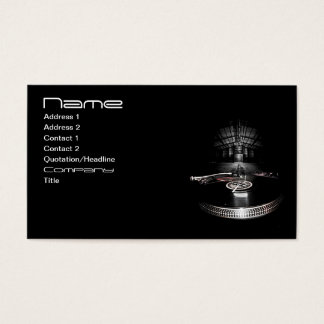 Party DJ business card with social icons