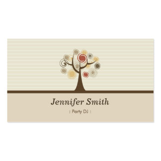Party DJ - Elegant Natural Theme Business Card