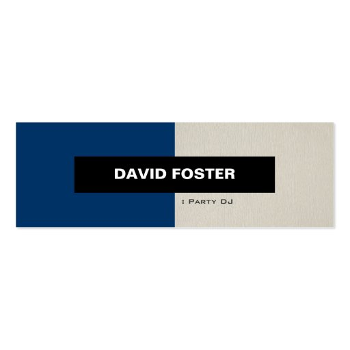 Party DJ - Simple Elegant Stylish Business Card Templates