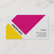 Party DJ - Simple Pink Yellow Business Card
