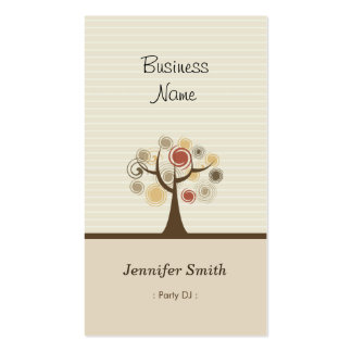 Party DJ - Stylish Natural Theme Business Cards