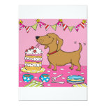 Party dog 5x7 paper invitation card