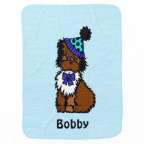 Party Dog Blue Baby Blanket