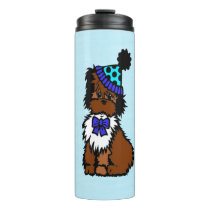 Party Dog Blue Thermal Tumbler