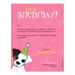 Party Dog Paws & Bones | Birthday Party Invitation Personalized Letterhead