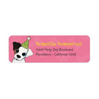 Party Dog Paws & Bones Return Address Labels
