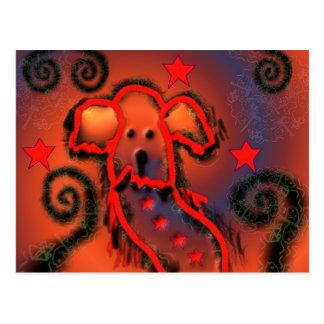 Party dog postcard
