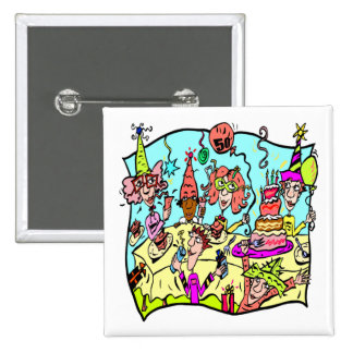 Party Down 50th Birthday Gifts Pin