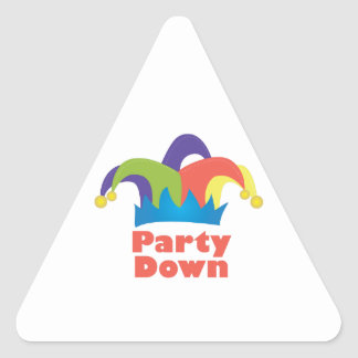 Party Down Triangle Sticker