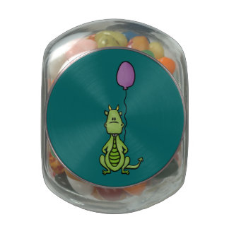 Party Dragon Glass Candy Jar