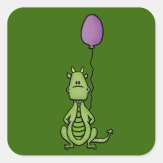 Party Dragon Square Sticker