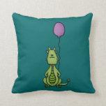Party Dragon Throw Pillow