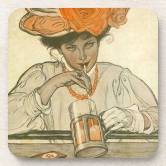 Party Drink Coaster Vintage Soda Fountain Sipper