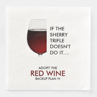 Party drinking joke red wine photograph paper dinner napkin
