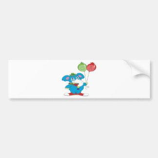 Party Elephant Bumper Sticker