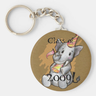 Party Elephant Grad Keychain