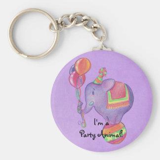 Party Elephant Keychain