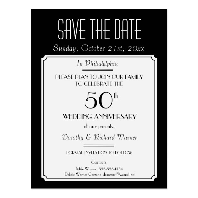 Birthday Save The Date Postcards Zazzle