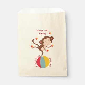 Party Favor Bags in Circus Theme- Birthday Bags