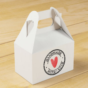 handmade by favor boxes zazzle  party favor box handmade with love st favor box