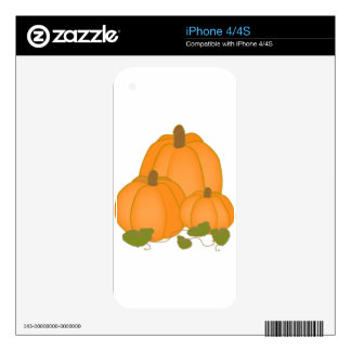 Party Festival Friend Family Cute Pumpkin Fall Decals For iPhone 4