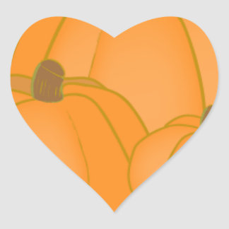 Party Festival Friend Family Cute Pumpkin Fall Heart Sticker