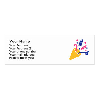 Party fireworks business card template