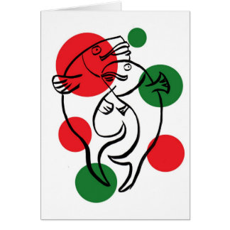 party fish greeting card