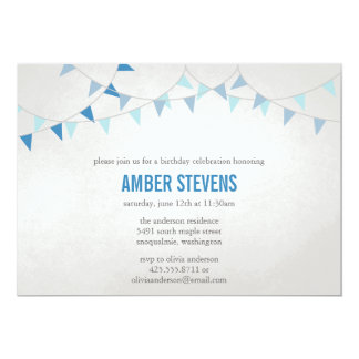 Party Flags Shower/Party Invitation