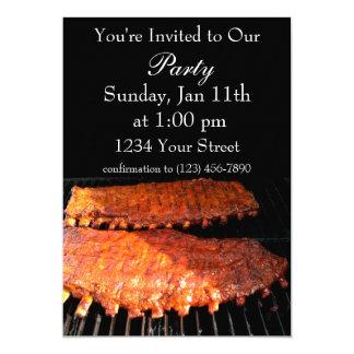 Party flame rib fire invite