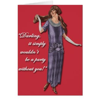 Party Flapper Style! Card
