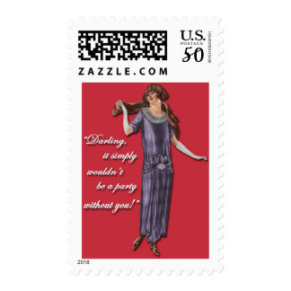 Party Flapper Style! Postage