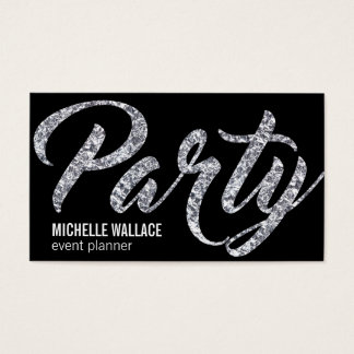 Party | Foil Script Business Card