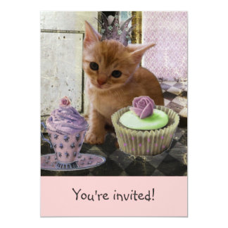 Party For One Kitten invitations