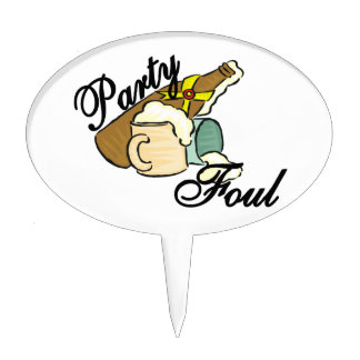 Party Foul Cake Topper