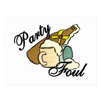 Party Foul Postcard