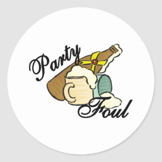 Party Foul Stickers