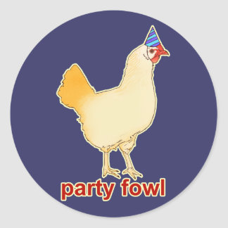 Party Fowl Classic Round Sticker