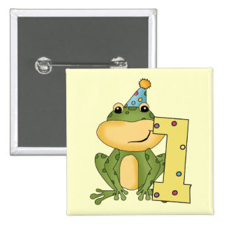 Party Frog 1st Birthday T-shirts and Gifts Pinback Button