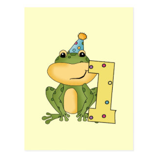 Party Frog 1st Birthday T-shirts and Gifts Postcard