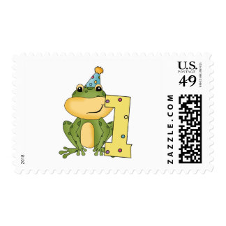 Party Frog 1st Birthday T-shirts and Gifts Stamp