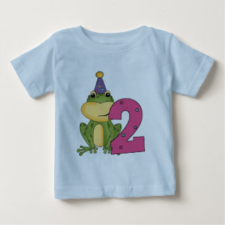 Party Frog 2nd Birthday T-shirts and Gifts