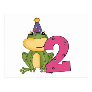 Party Frog 2nd Birthday T-shirts and Gifts Postcard